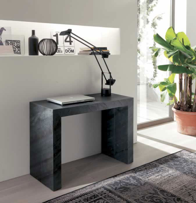 Console ozzio glass for Table etroite extensible